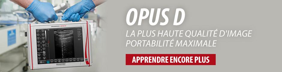 DRAMINSKI OPUS D – l'échographe avec les paramètres excellents et avec les fonctions de doppler. Vérifiez!