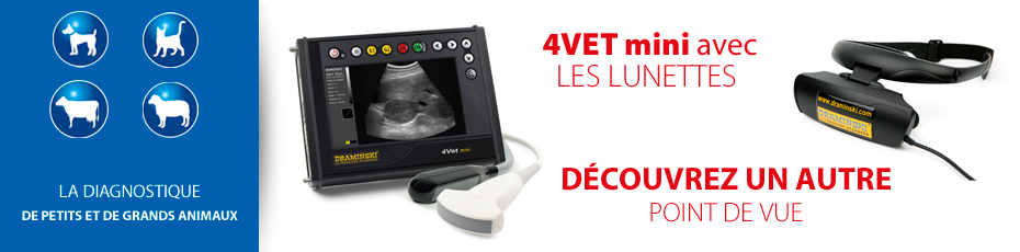 Scanner à ultrasons vétérinaire avec lunettes