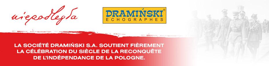 La société Dramiński S.A. soutient fièrement la célébration du siècle de la reconquête de l'indépendance de la Pologne.