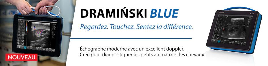DRAMIŃSKI BLUE est un échographe destiné au diagnostic vétérinaire qui vous surprendra par son image détaillée.