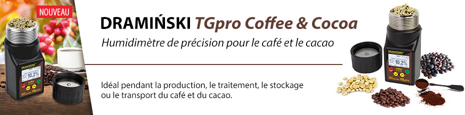 Humidimètre de précision pour le café et le cacao avec la compression de l'échantillon.