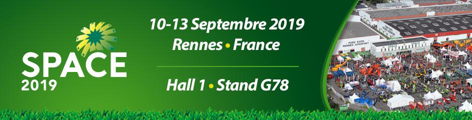 Venez visiter notre stand pendant SPACE. 10-13 septembre • Rennes, France